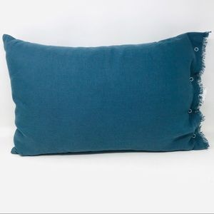 14x20 Snap Closure Throw Pillow Navy Blue